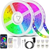 Bonve Pet 20M Tiras LED RGB 5050, Bluetooth Musical Tiras LED 600 LEDs Tiras de Luces LED Iluminación, Control de APP y Remot
