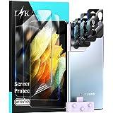 L1K 5 Pack Screen Protector voor Samsung Galaxy S21 Ultra 5G 6,8 inch, 2 Pack Flexibele Zachte TPU Beschermfolie en 3 Pack Ca