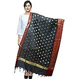 Banjara India Women's Kora Silk Banarasi Dupatta/Chunni - FLR Butta