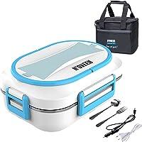 N'OVEEN Lunch box électrique LB520 chauffe-plats, plaque chauffante thermo lunch box d'une capacité de 1 litre - 230V…