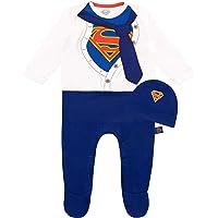 DC Comics Tutina da Notte e Cappello per Bambino Superman