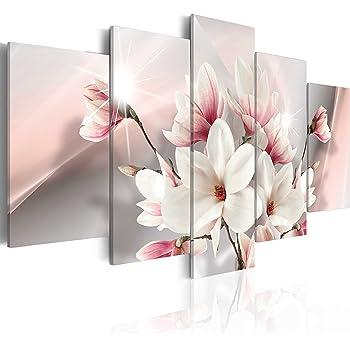 Leinwand Bilder xxl Blumen Steine Herz SPA Wandbilder Wohnzimmer b-B-0237-b-m