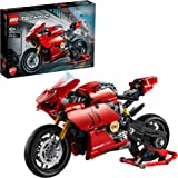 LEGO Technic Ducati Panigale V4 R 42107 advanced building set, Italien Superbike replica model and racing stand (646 pieces)