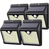 Solcellslampor utomhus, 【Nyaste 250 LED 1500 lumen】kilponen solcellslampor 2000 mAh soldrivna vägglampor vattentäta med mer s