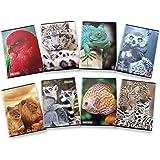 Pigna ANIMAL 02307651F Maxi Quaderni A4 Quadretto 1F con Margine, 1 cm, Confezione da 10 Pezzi