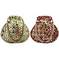 Women's Potli (Gold & Red)