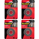 Scotch Extremely Strong Mounting Tape, 1-inch X 60-inches, Black, Holds up to 30 pounds, 1-Roll (414P) (Оne Расk)