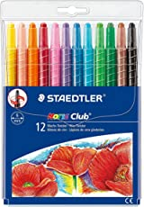 Staedtler 221 NWP12 Noris Club Twistable Wax Crayon Set - Pack of 12