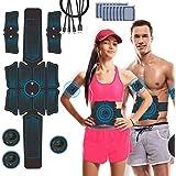 Estimulador Muscular Abdominales, JuYue Electroestimulador Muscular USB Recargable, ABS Abdominales Electroestimulacion para