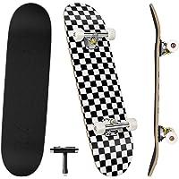 Benewell tavola da skateboard completa Funboard 79x20cm con 7 strati di legno d'acero, per bambini, adolescenti e adulti