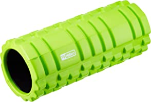 Fit Nation Foam Roller for Muscle Massage with Exercise Book, Ultra Lightweight Hollow Core Muscle Roller for Deep Pain...