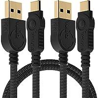 Volutz Cavo USB C da tipo C a USB A, set da 2m x 2 con funzione di ricarica rapida USB C, compatibile con telefoni…