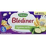 Blédina Blédîner Céréales Lactées aux Légumes Verts dès 6 mois 4 x 250 ml - Pack de 3