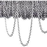 12 Metri Collane a Catena in Acciaio Inossidabile Catena di Collegamento Collana per Accessori di Gioielli Fai da Te, Colore