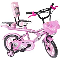 Speed Bird 12-T Robust Double Seat Bicycles Baby Cycle for Boys & Girls Age Group 2-5 Years (Baby Pink)