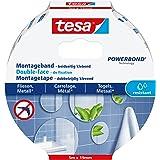 tesa Mounting Tape for Tiles & Metal, 5m x 19mm, wit