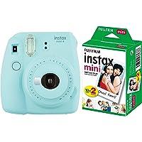 Fujifilm Instax Mini 9 Instant Camera (Ice Blue) with Film (20 Shots)
