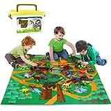 Vanplay Juego de Dinosaurios, Figura de Dinosaurio 52 Piezas Fiestas de cumpleaños Educativo Realista Juguetes Niños 3 4 5 6
