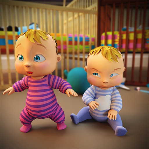 süße neugeborene Zwillingsbabypflege: Mutterbabyspiele