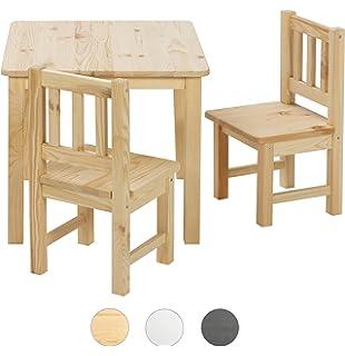 Sitzgruppe Für Kinderzimmer Tisch2 Stühle Kinder Kieferholz