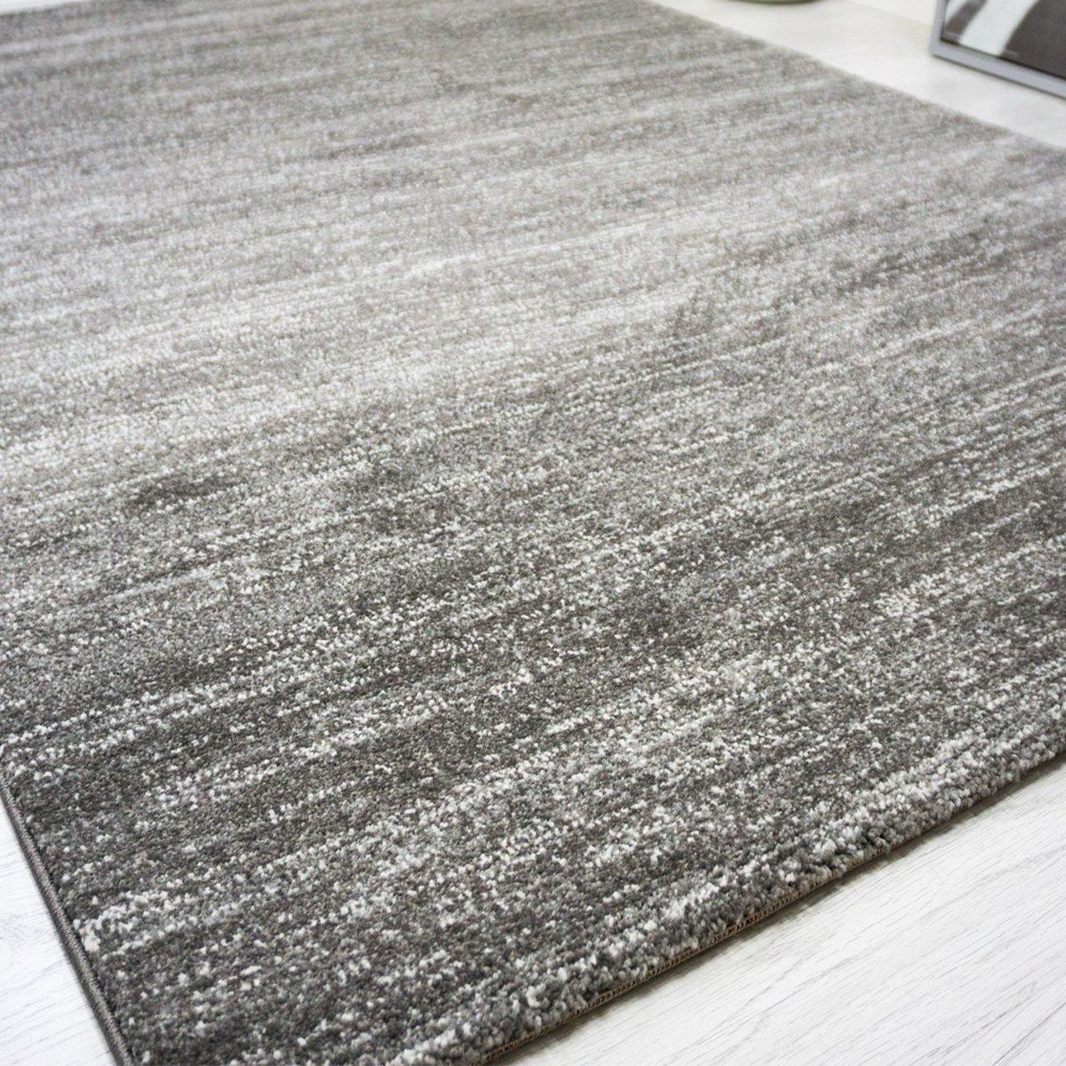 Moderner wohnzimmer teppich meliert kurzflor, oeko tex ...