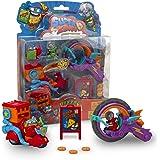 SuperThings Serie 2, Blíster Pizza Mission, PSZSB216IN30, con 2 Figuras Exclusivas, el Superhéroe Supperoni y el Supervillano