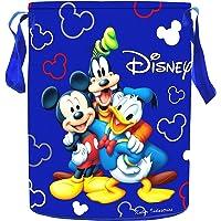 Kuber Industries Disney Print Waterproof Canvas Laundry Bag, Toy Storage, Laundry Basket Organizer 45 L (Blue…