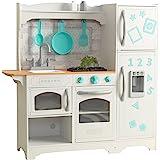 KidKraft- Cocina de juguete de madera Countryside, para niños, con máquina de hacer hielo y juegos de dramatización incluidos