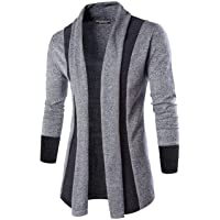 DENIMHOLIC Mens Cotton Front Open Cardigan Shrug