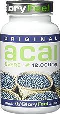 Acai Beere 12000mg - 120 Acai Beeren Kapseln plus Vitamin C, hochdosiertes Acai Berry Pulver