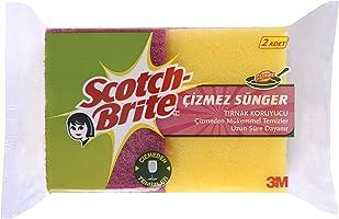 Scotch-Brite Çizmez Sünger, Tırnak Koruyuculu, 2'li Paket