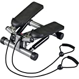 Body Sculpture BS1320 Lateral Twist Stepper with Resistance Cords | Tone Your Buttocks, Legs, Thighs, Waist & More | Track Yo