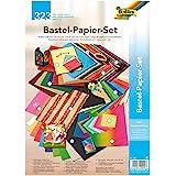 folia 940 Knutselpapier, set het hele jaar, 323 delen, creatieve set voor kinderen en volwassenen met verschillende knutselma