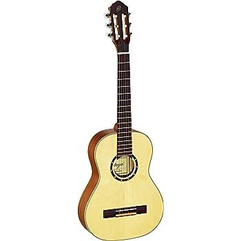 Ortega R121-1/2 Konzertgitarre in 1/2 Größe natur im seidenmatten Finish mit hochwertigem Gigbag