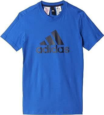 brgrin // blanco // buruni Taglia del produttore: 176 Adidas Yb Logo Tee Maglietta Bambino 15-16 Anni Grigio