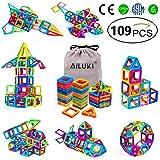 AILUKI Magnetische bouwstenen, 109 stuks, creatieve 3D-magnetische bouwblokken, bouwblokken, thuis, toren, auto, speelgoed, v
