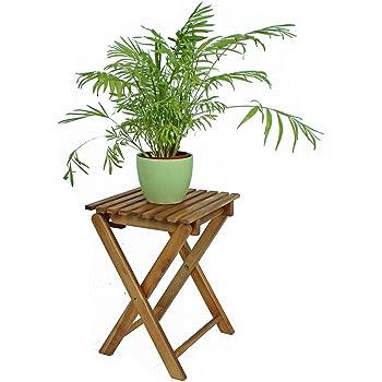 Klapphocker Blumenhocker 2 Hocker im Set Eukalyptusholz Beistelltisch Tisch