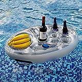Uppblåsbar mugghållare – flytande ölhållare av PVC | Dryckeshållare flaskhållare dryckeshållare poolunderlägg | flytande coas