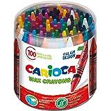 Carioca Wax | 42399 - Caja de Ceras, Colores Surtidos 100 Unidades