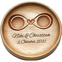 Cuscino fedi matrimonio Cuscino anelli matrimonio Portafedi Anello Portatore Personalizzato Nomi e Data Matrimonio…