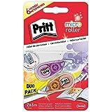 Pritt Micro Rolli, correctores de bolígrafo para tapar errores, cintas correctoras que no dejan manchas, corrector escolar en