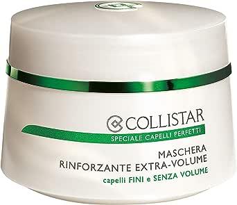 Collistar Maschera Rinforzante Extra-Volume , Rafforza e rende più voluminosa la capigliatura e ristruttura progressivamente la fibra capillare , per capelli fini e senza volume , 200ml
