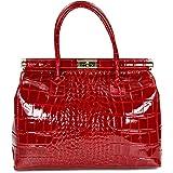 Bellissimo BELLI The Bag XL Leder Henkeltasche Handtasche Damen Ledertasche Umhängetasche - 34x25x16 cm (B x H x T)