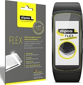dipos I 3X Pellicola Protettiva Compatibile con Samsung Gear Fit 2 - Rivestimento del Display al 100% - Pellicola di Protezione