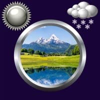 Natur Uhr u. Wetter Widget
