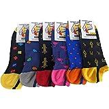Lucchetti Socks Milano calcetines invisibles tobilleros hombre hilo de escocia con dibujos pois producto italiano de calidad