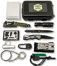 Felbridge Green Außen Notfall Survival Kit mit Multitool Zangen Set und Paracord Armbänd Für Camping, Bushcraft, Wandern, Jagd und Ihr Outdoor Abenteuer