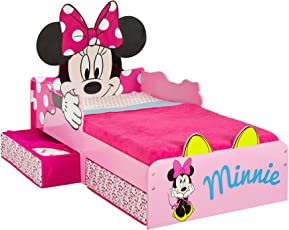 Disney Minnie Mouse Toddler Bed with Underbed Storage By Hellohome (509MIZ)