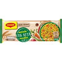 MAGGI NUTRI-LICIOUS Masala Veg Atta Noodles – (Pack of 4) 290g Pouch