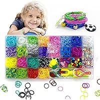 Banekilane Bracelet Elastique,Elastique pour Bracelet,Loom Bands Elastiques,Bandes de Caoutchouc de Couleur Environ 1500…